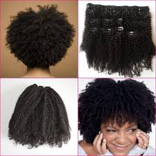 Indian Remy Human Hair Clip In Extensions by 3c 4a 4b 4c Afro Curly Clip In Human Hair Extensions Virgin