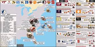Virginia Tech Map Ncaa Division I A Football Bowl Subdivision The Acc Team