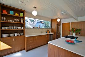 mid century kitchen maybe teak nice lines built 1960 architect