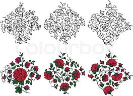 Indian Flower Design Bold Black And White Calligraphic Floral Design Element In Persian