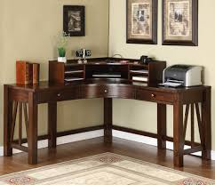 Open Home Office Furniture Hardwood Corner Desk With Open Drawers Ideas Simple