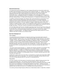 Business plan components executive summary   Order paper