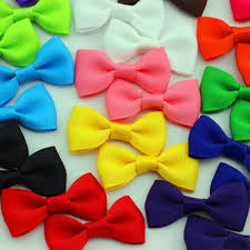 wholesale 2 girls little bow diy small grosgrain ribbon bows