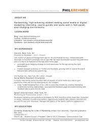 sample resume for program manager 10 marketing resume samples hiring managers will notice inbound marketing intern resume sample