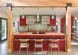 Kitchen Renovation Ideas 2014 Extravagant Design Of Small Kitchen In Black White And Red Color