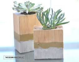 Diy Succulents How To Make A Dip Dyed Wooden Succulent Garden From The Design