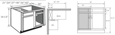 BL Kitchen Corner Base Cabinet With Blind W X  H X - Corner kitchen base cabinet