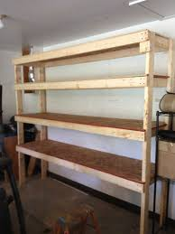 Building Wood Shelves For Storage by 20 Diy Garage Shelving Ideas Guide Patterns