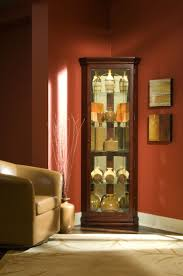 Oak Curio Cabinet Curio Cabinet Solid Oak Corner Curiot Pulaski Golden Antiquets