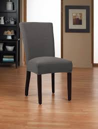 dining room simple gray fabric upholstered seat cover with short