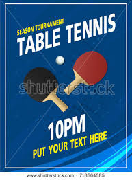 Table Tennis Tournament by Ping Pong Table Tennis Tournament Poster Stock Vector 718564492
