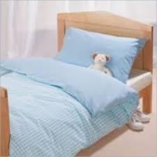saplings cotbed duvet cover u0026 pillowcase blue gingham
