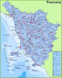 Italy Region Map by Large Detailed Travel Map Of Tuscany With Cities And Towns