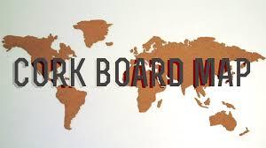 World Map Pinboard by Diy Corkboard World Map Youtube