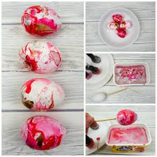 how to marble eggs with nail varnish mum in the madhouse