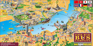 Map For United States by Hong Kong Tourist Map