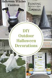 illuminated halloween decorations diy outdoor halloween decorations the idea room