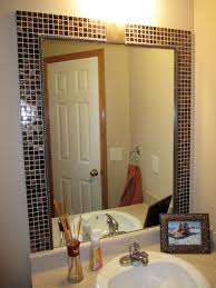 Bathroom Mirror Ideas On Wall Minimalist Designed Contemporary Bathroom Which Is Completed With