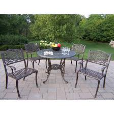 5 Pc Patio Dining Set - cast aluminum patio dining set seats 6 patio dining sets at patio