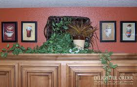 Top Of Kitchen Cabinet Decor Ideas Decorating Ideas For Above Kitchen Cabinets Room Decorating Ideas