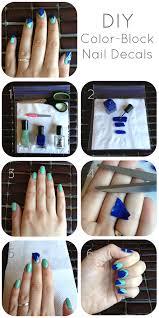 diy color block nail decals the cheap luxury diy color block