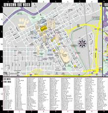 Map Of Dallas Fort Worth Airport by Streetwise Fort Worth Map Laminated City Center Street Map Of