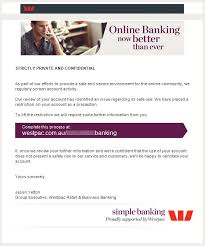 Latest scams   Westpac Your account has been disabled for security reasons