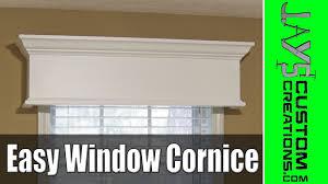 Kitchen Cabinet Cornice by Easy Diy Window Cornice 177 Youtube