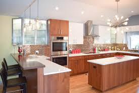 kitchen design ideas cherry wood countertop coastal kitchen