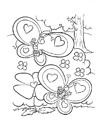 butterfly couple valentine coloring pages valentine coloring