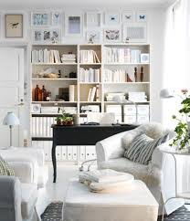 simple fengshui home office ideas with white sofa set and black