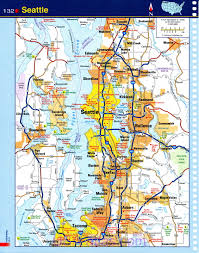 Map Of Washington Cities by Seattle Map Detailed Road Map Of Seattle Wa Clear Map Of The
