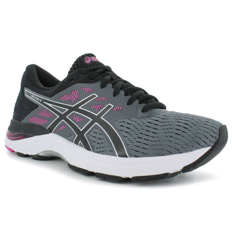 Asics Gel-Flux 5 Carbon / Black Fuschsia Red Ankle-High Fabric Running 6M