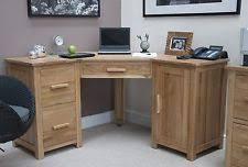 Solid Oak Office Furniture by Solid Wood Contemporary Corner Desks L Shaped Desks Ebay