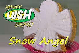 lush snow angel luxury bath melt demo underwater view