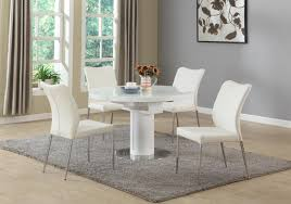 Five Piece Dining Room Sets Chintaly Nora Dining White 5 Piece Dining Set Beyond Stores