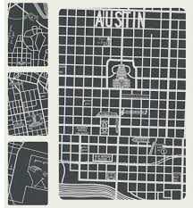 Texas Map Austin by Vintage Austin Texas Map Detail