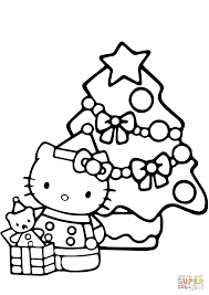 christmas hello kitty coloring pages for kids printable free at