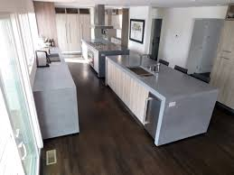 countertops simple modern kitchen with concrete countertop and