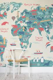 explorer kids world map mural illustrated maps playrooms and kids s