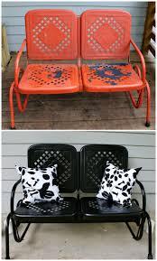 Spray Painting Metal Patio Furniture - incredible 8 retro metal patio furniture home and interior