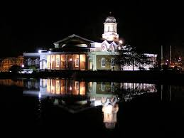 Milford City Hall at Night