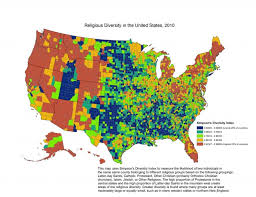 Map Of The New England States by Religion In America U0027s States And Counties In 6 Maps The