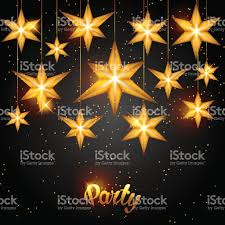 celebration party background with starsornament greeting