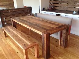The Florence Clear Reclaimed Farmhouse Dining Table In Cornforth - Barnwood kitchen table