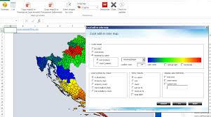 Excel Heat Map Postal Code Map Croatia 5 Digits Maps4office