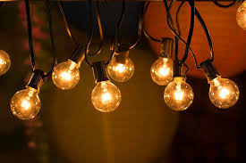 Patio Lights Outdoor by 25ft G40 Globe String Lights With Clear Bulbs Ul Listed Backyard