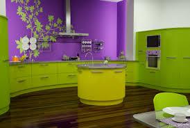 Interior Kitchen Decoration Unique Decoration Green Purple Kitchen Plant Decals Decosee Com