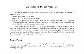 Guidelines For Project Proposal Free PDF Format Template Template net