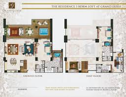 Floor Plans With Loft Floor Plans Grand Luxxe Residence